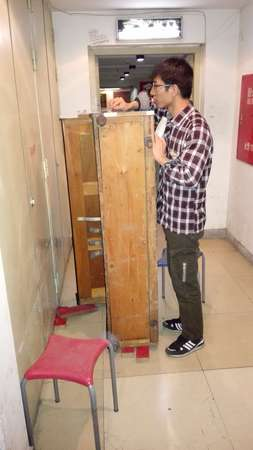 学员练习油漆修补